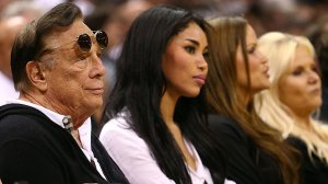 Los Angeles Clippers owner Donald Sterling and girlfriend V. Stiviano